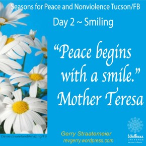 Season for Nonviolence Day 2 ~ SMILING