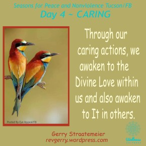 Season for Nonviolence Day 4 ~ CARING