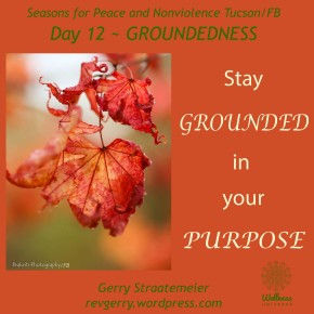 Season for Nonviolence Day 12 ~GROUNDEDNESSS