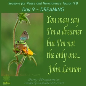 Season for Nonviolence Day 9 ~DREAMING