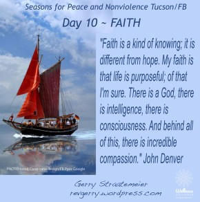 Season for Nonviolence Day 10 ~ FAITH
