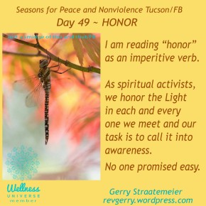 Season for Nonviolence Day 49 ~ Honor
